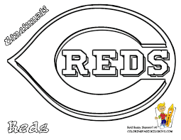 cincinnati reds baseball picture to color in at coloring pages