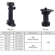 china plastic adjustable cabinet legs in abs material