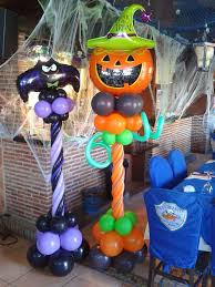 Naughty Decorations Halloween Balloon Columns Crazy Pumpkin And Naughty Bat Quite