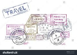 Travel Theme Vector Passport Stamps Form Car Travel Stock Vector 161915819