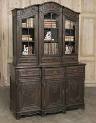 French Antique Bookcase Antique Bookcase Hand Carving French Antique Hand Carved French