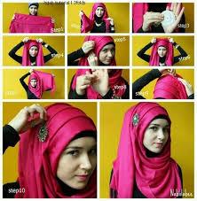 tutorial hijab nabiilabee 3 folds hijab tutorial step by step by nabiilabee evrything hijabi