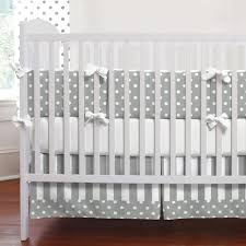 Cloud Crib Bedding Furniture Gray And White Dots Stripes Three Crib Bedding