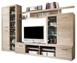 cancun wall unit modern entertainment center tv stand oak