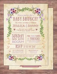 floral rustic boho babyq chalkboard couples co ed baby shower