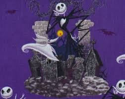 nightmare before fabric skellington and