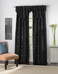 Black Valances For Windows Furniture Luxury Interior Design With White Modern Table Near