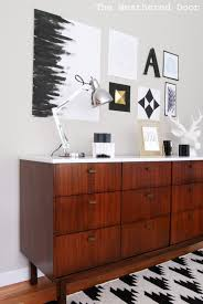 Mid Century Modern Furniture Before U0026 After Mid Century Modern Credenza With A Glossy White