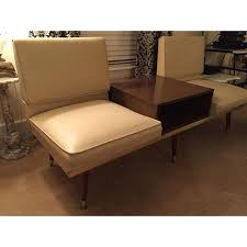 murphy table and benches murphy miller kroehler mid century two seat sofa bench with center
