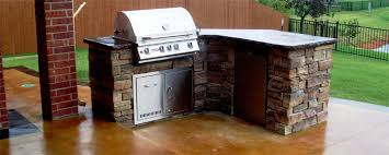 L Shaped Outdoor Kitchen by Paver Installation Pergola Patio Water Feature Tulsa Oklahoma Ok