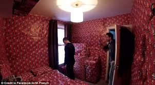 in wrapping paper christmas hater comes home to entire room covered in wrapping paper
