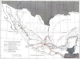 Mexican State Map by Map Of Mexico 16th Century Expeditions