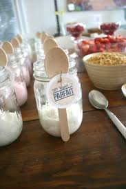 bridal brunch favors fruit granola and yogurt parfait bar bridal shower