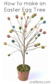 easter egg tree decorated easter egg tree easter crafts craftbits