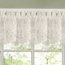 shabby chic valances luxurious old world style lace kitchen curtains tiers and