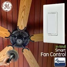 wink compatible ceiling fan ge z wave wireless smart fan speed control 3 speed in wall