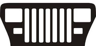 jeep grill logo vector jeep yj your text personalized grill metal art man cave decor