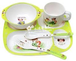 korean children s cutlery set baby tableware melamine imitation