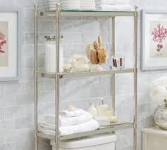Bathroom Over The Toilet Storage Cabinets by Metal Over The Toilet Etagere Pottery Barn