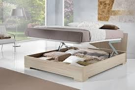 fly chambre a coucher lit coffre bois blanc clair bout 140x190 140x200 contemporain