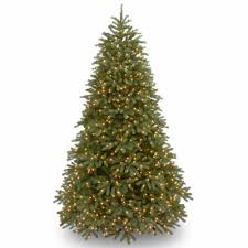 national tree co 9 foot jersey fraser fir hinged pre lit