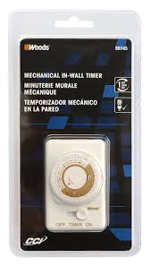 Woods Plug In Timers Dimmers by Woods 59745wd In Wall 24 Hour Mechanical Timer Converts Wall