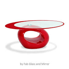 Glass Oval Coffee Table by Stylish Red Oval Shape Coffee Table