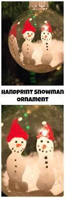 handprint snowman ornament diy keepsake
