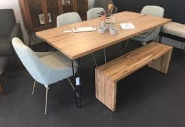 wood block dining table butcher block dining table retro modern furnishings