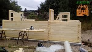 bureau de jardin bois chalet ou bureau de jardin en bois lille 19 en madriers 68 mm