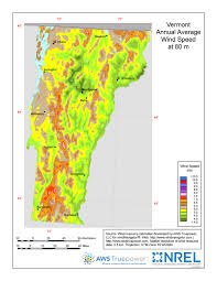 Vt Map Windexchange Vermont 80 Meter Wind Resource Map