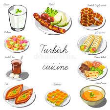 cuisine de turquie ensemble de cuisine de l asie de turc collection de plats de