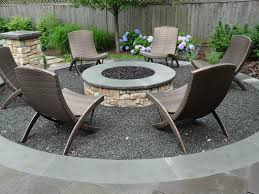 Gravel Fire Pit Area - this gas burning fire pit area is integrated into a large raised