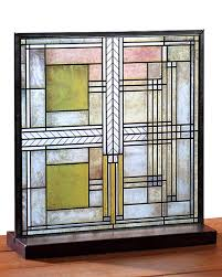 frank lloyd wright stained glass prairie and arts and crafts