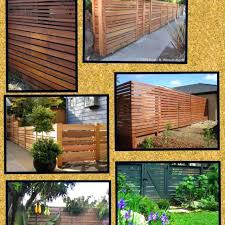 Backyard Fence Decorating Ideas Wood Fence Ideas For Backyard This Backyard Fence Is Made Of