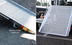 pedane per disabili ra per accesso veicolo 2 stadi 140x80 cm ausili per disabili e