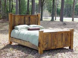 Log Queen Bed Frame Rustic Lodge Log And Timber Furniture Handcrafted From Green
