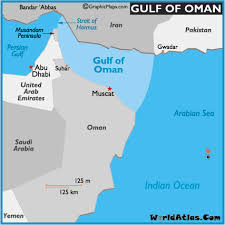 middle east map gulf of oman map of gulf of oman gulf of oman location facts major bodies of
