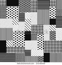 black white seamless patchwork pattern vector stock vector