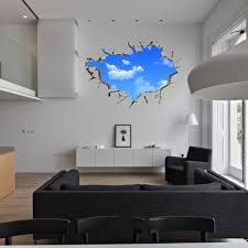 popular ceiling stickers buy cheap ceiling stickers lots from 2017 pvc blue 50 70cm wall sticker non toxic creative blue sky 3d stereo