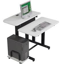 2 level computer desk what is a plunge router vs fixed base adjustable height computer