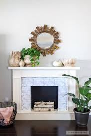 how to make a diy faux fireplace featuring smart tiles adhesive
