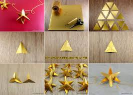 diy paper star christmas ornament diy craft projects