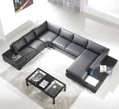 Leather Sectional Living Room Furniture Black Leather Sectional Living Room Furniture Tos Lf 2066
