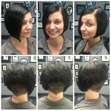 short stacked bob haircut shaved undercut shaved stacked inverted bob haircut undercut shav flickr