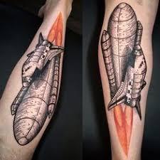 glow in the dark tattoos kansas city space shuttle by ryan cooper thompson fountain city tattoo kansas