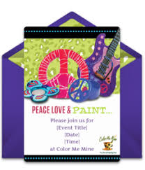 color me mine online invitations punchbowl