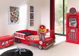 promo chambre bebe lit enfant camion de pompier heroes lit chevet enfant lit