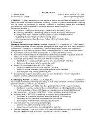 Resume For Property Management Job by Commercial Real Estate Property Manager Resume Contegri Com