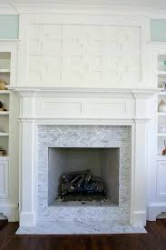 installing marble tile over brick fireplace the best fireplaces